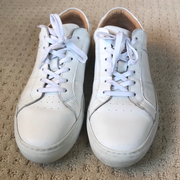 Mens Greats White Leather Sneakers